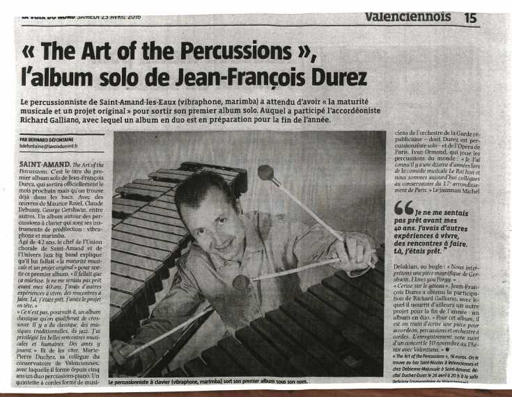 ARTICLE PRESSE JFD ALBUM II