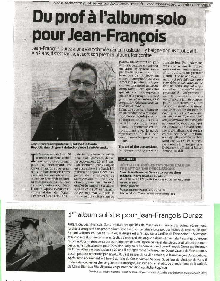 ARTICLE PRESSE JFD ALBUM