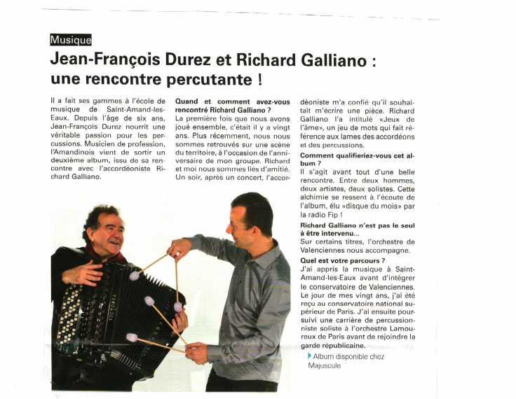 ARTICLE ALBUM DUREZ GALLIANO (VA MAI 2017)