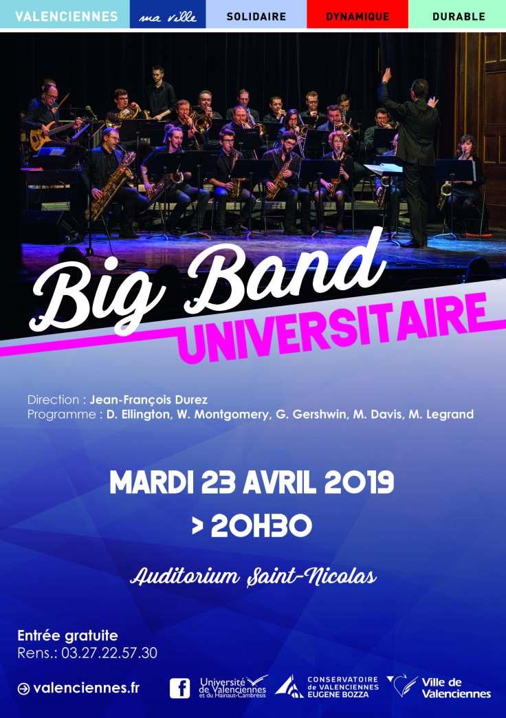 big band universitaire 23 avril 2019