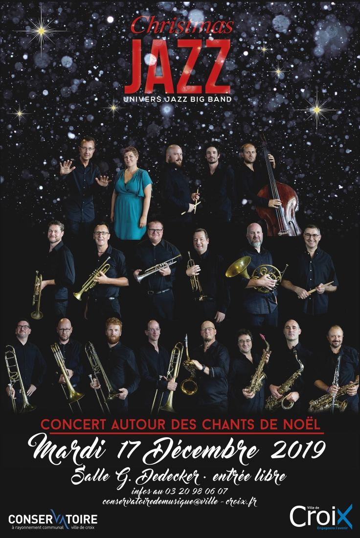 AFFICHE CHRISTMAS JAZZ CROIX 17 DEC 2019