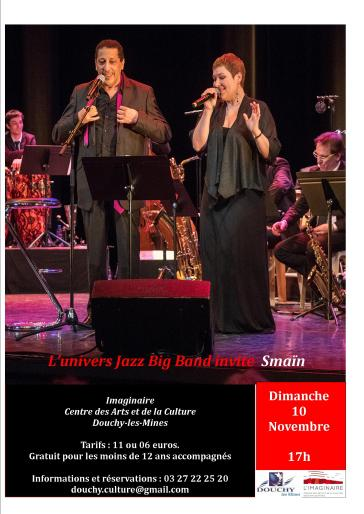 SPECTACLE UJBB invite SMAIN NOVEMBRE 2019 DOUCHY LES MINES
