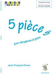 5 PIECES POUR VIBRAPHONE ET PIANO